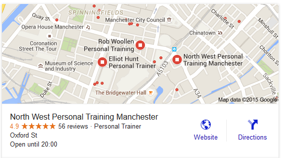 seo personal trainer manchester