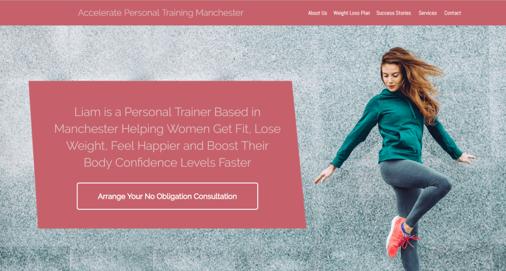 personal trainer website builder