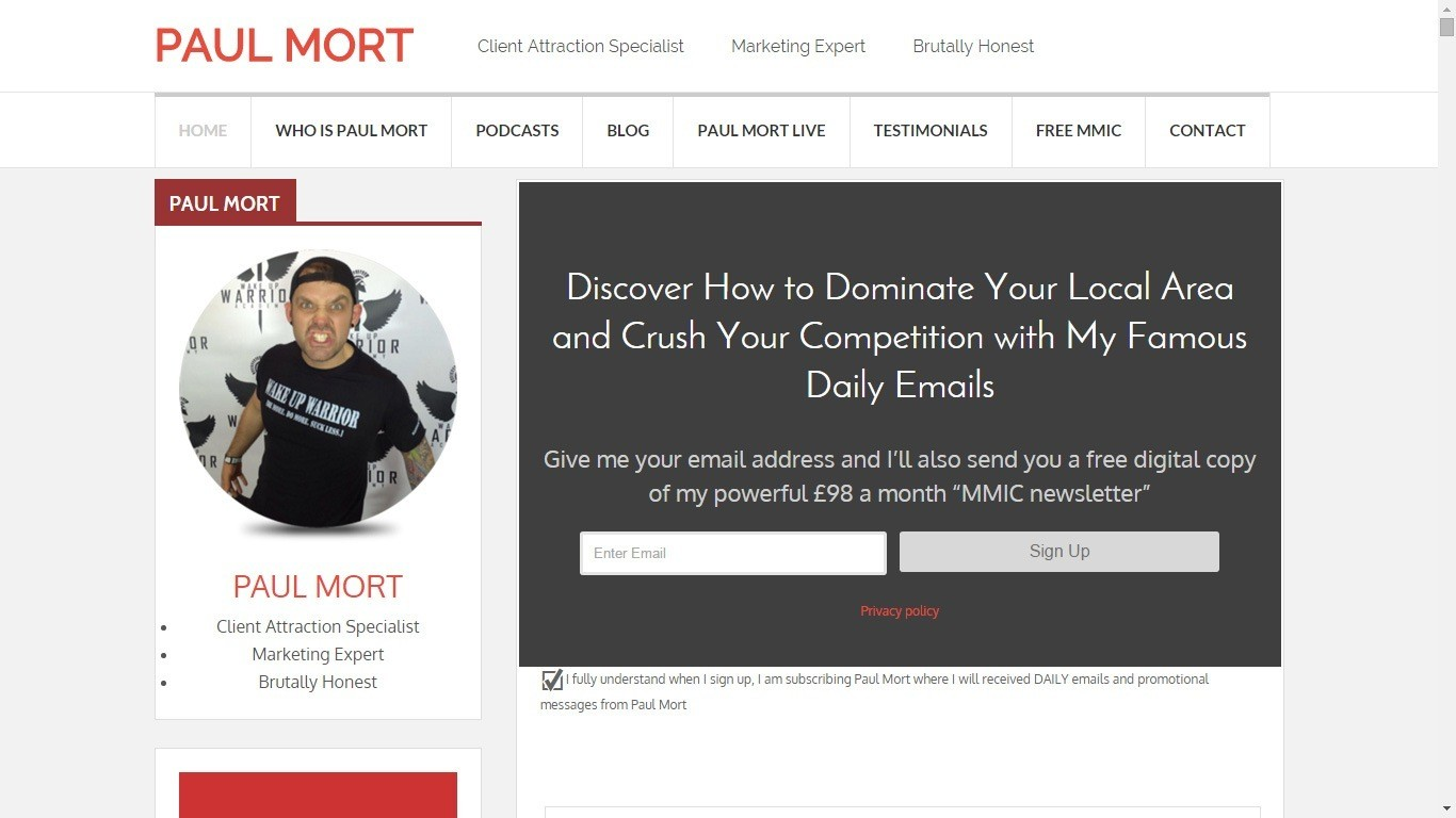 Personal Trainer Website Example 7